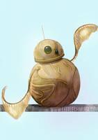 Star Wars x Harry Potter: BB-8 aka the Golden Snit by LittleChmura