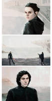 Star Wars: The last Jedi Triptych by LittleChmura