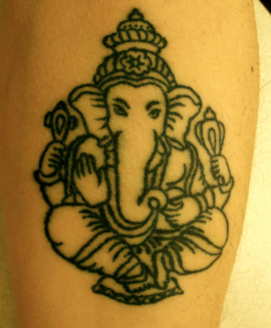 ganesh tattoo by louiscypher on deviantart. Black Bedroom Furniture Sets. Home Design Ideas
