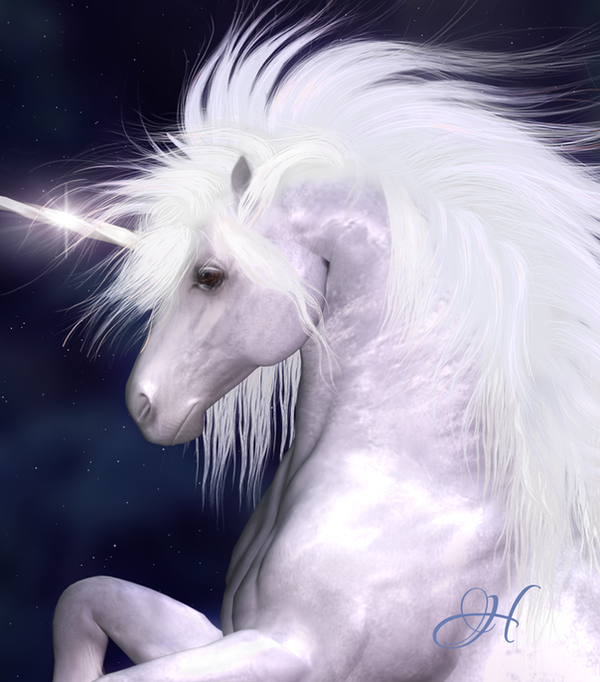 Winter Unicorn by SuliannH