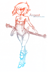 Argent . Death in silver