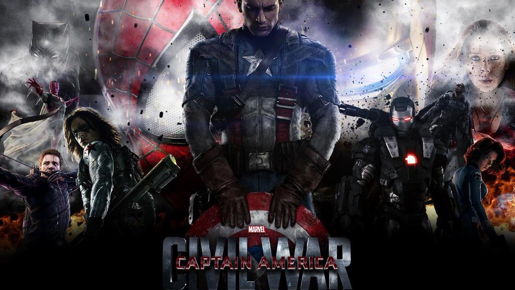 Captain America Civil War By IMakeRandomArt