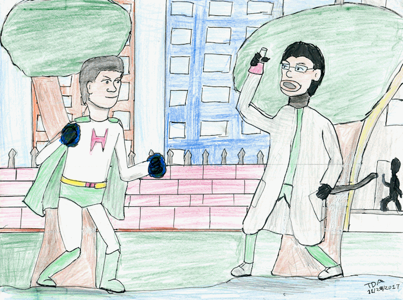 Herodude vs Doctor Monkeyface by ShadowWingTronix