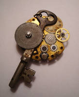 Steampunk Key Charm by octofinity