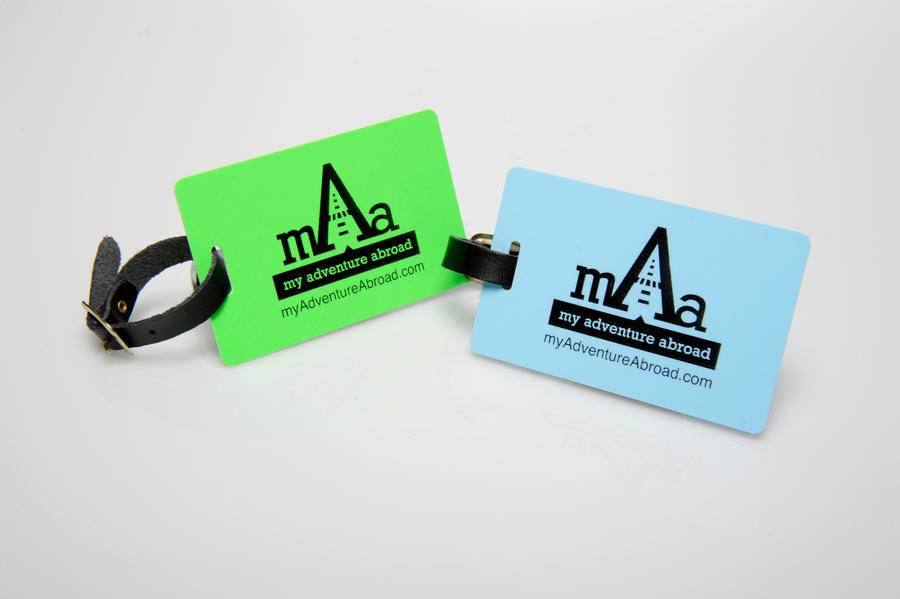 My Adventure Abroad Luggage Tags by octofinity