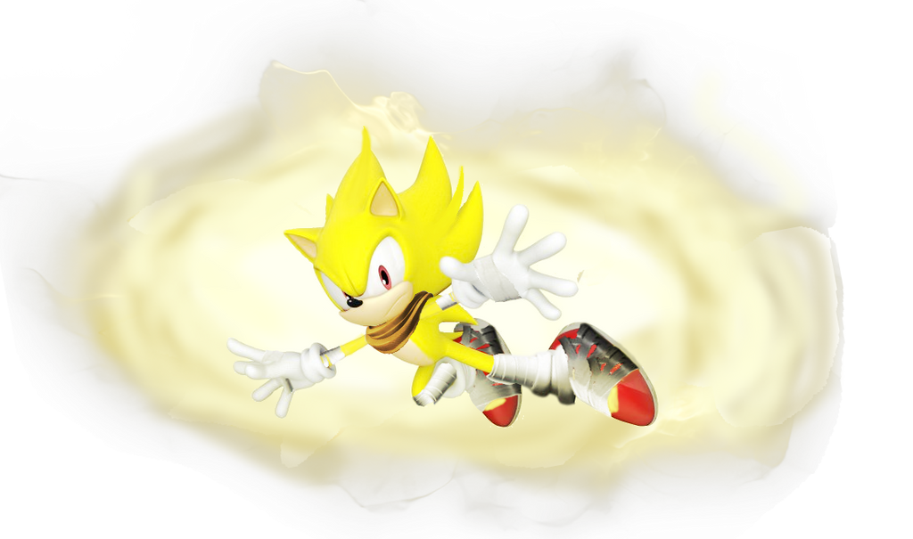Super Sonic (Sonic Boom Style) by Silverdahedgehog06