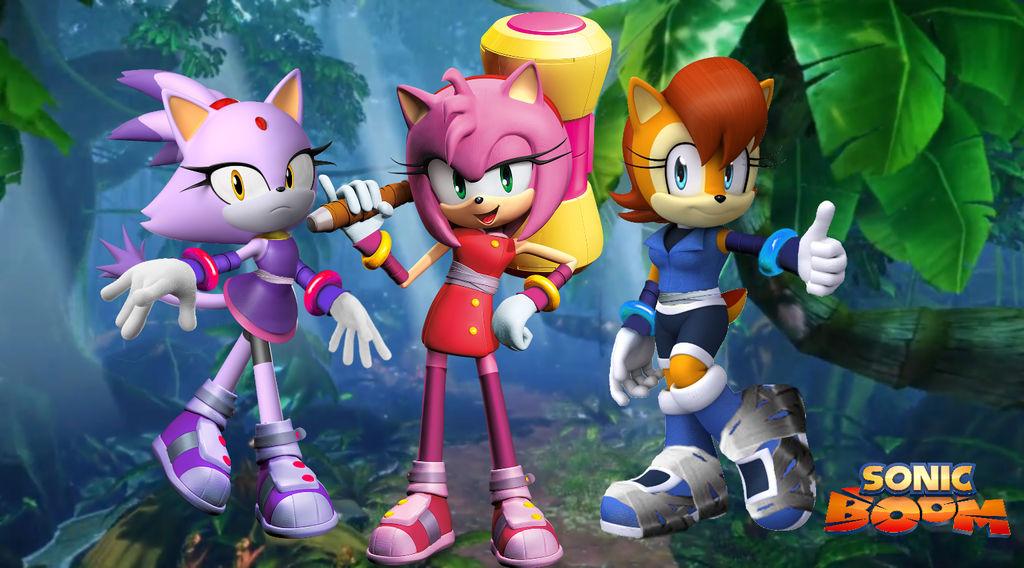 Sonic Boom Amy Blaze And Sally Wallpaper By Silverdahedgehog06 On Deviantart