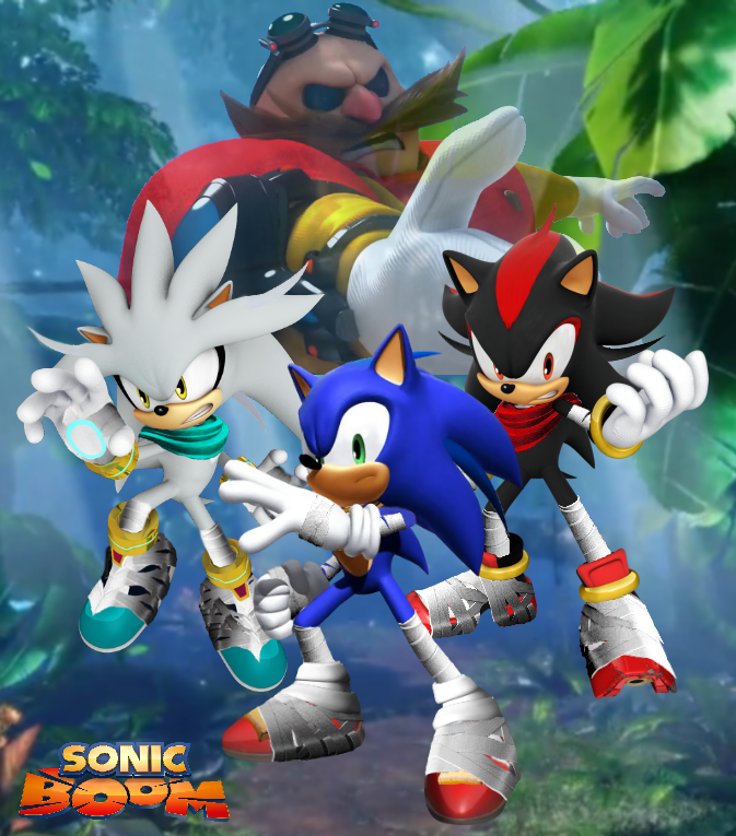 Sonic boom sonic shadow silver and eggman wp by - Sonic et shadow ...