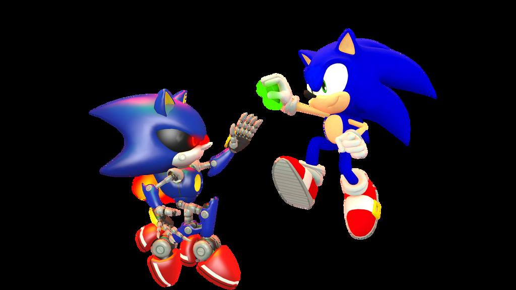 Seem Familiar, Metal Sonic? by Silverdahedgehog06