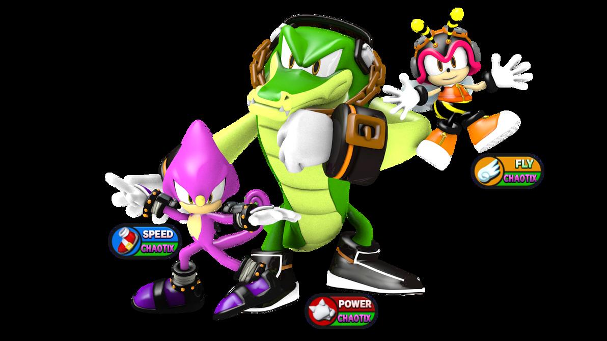 Sonic Heroes 2 Team Chaotix Render by Silverdahedgehog06