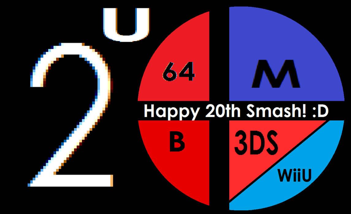 Super Smash Bros 20th anniversary logo by Flame-dragon