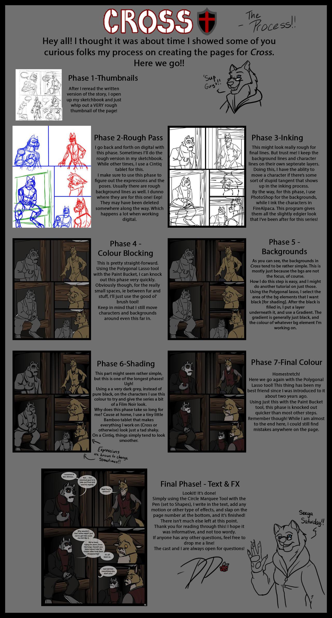 My Comic Process - Cross