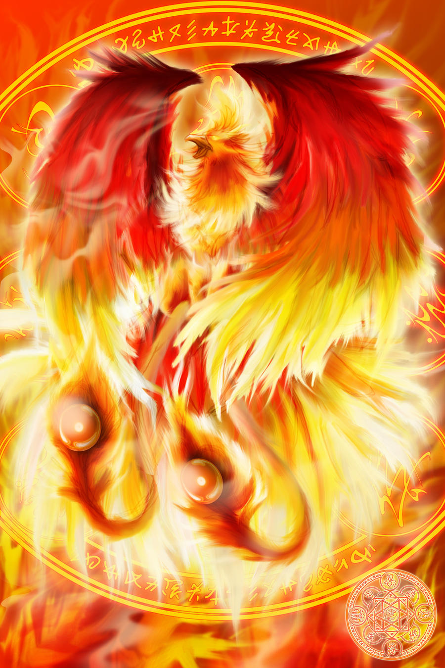 Fire Element Phoenix Summoner by ahyou1991 on DeviantArt