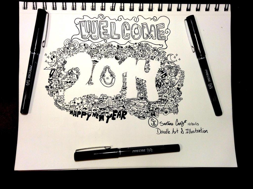 2014 New Year by Santanacruz