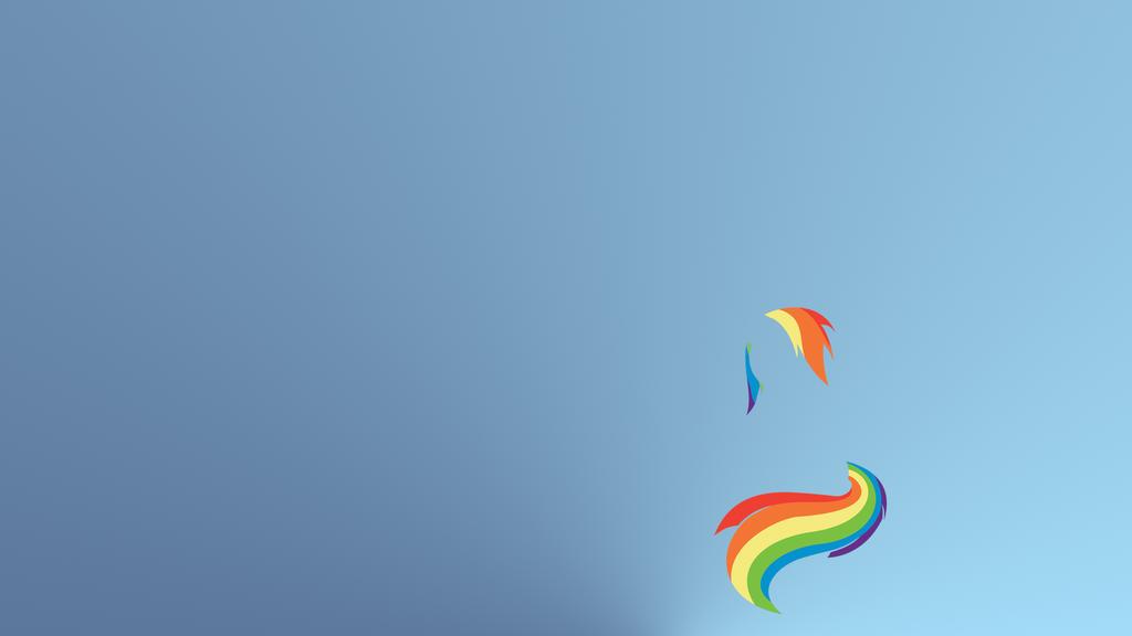 Rainbow Dash Minimal Wallpaper by Zee66 on deviantART