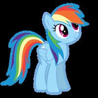 Rainbow Dash Stare by Zee66