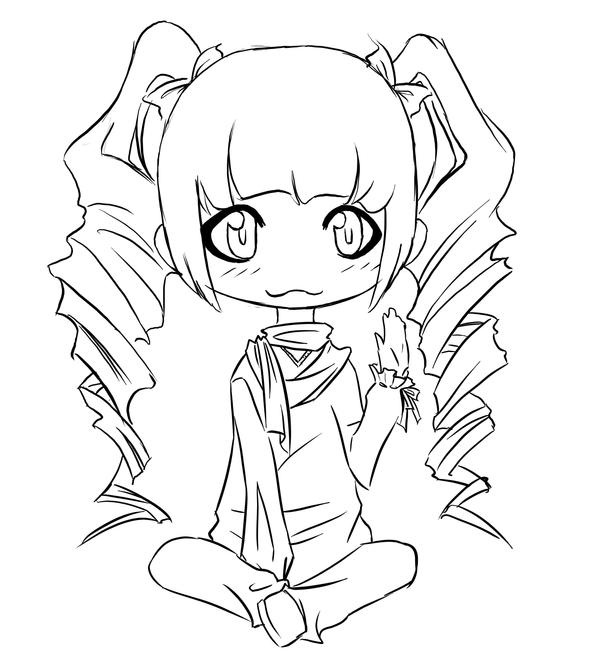 Chibi Girl With Curly Hair Template Www Imgkid Com The