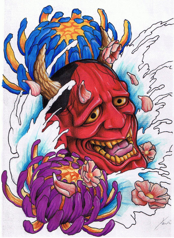 Mister Tattoos: Japanese Hannya Mask Tattoo Designs