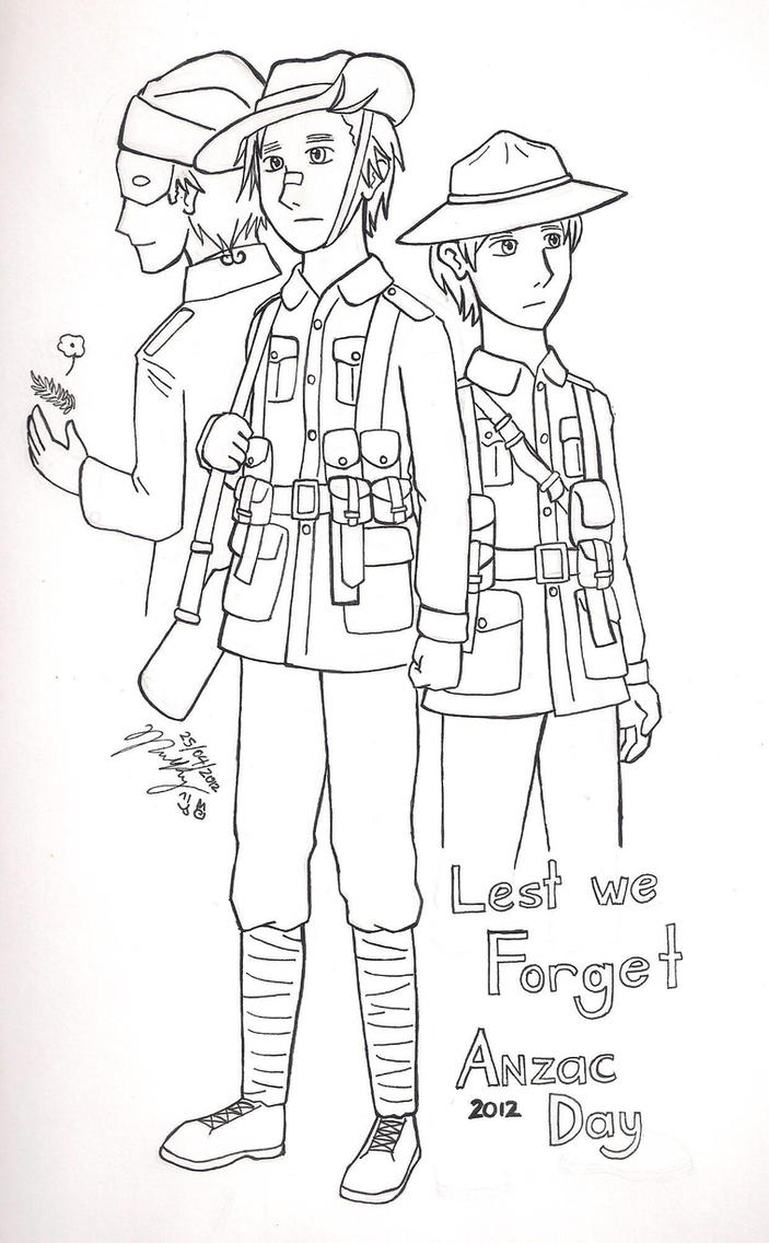 anzac soldier coloring pages - photo#8