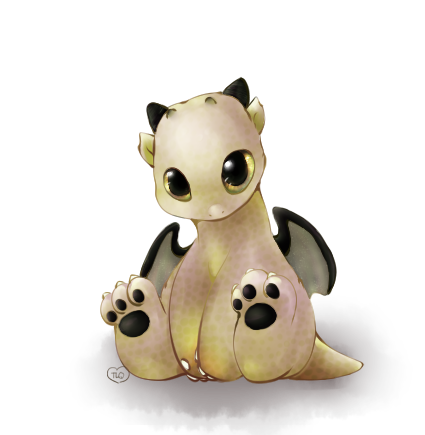 HW: Lil Baby Dragon -Golden- by TheLonelyQueen