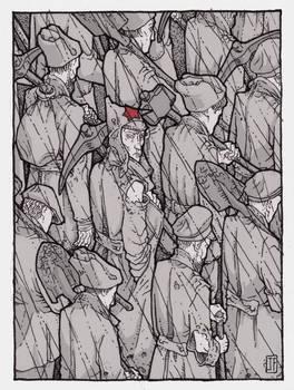 rain, labor, calloused hands