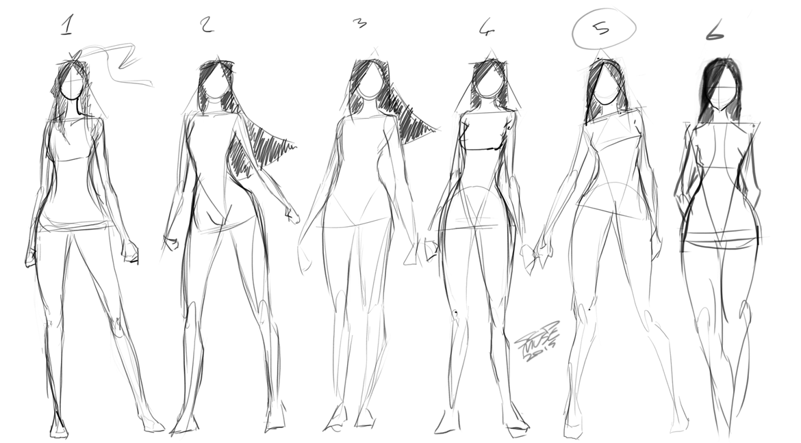 [7] Quick Standing Sketches By SCDMuse On DeviantArt