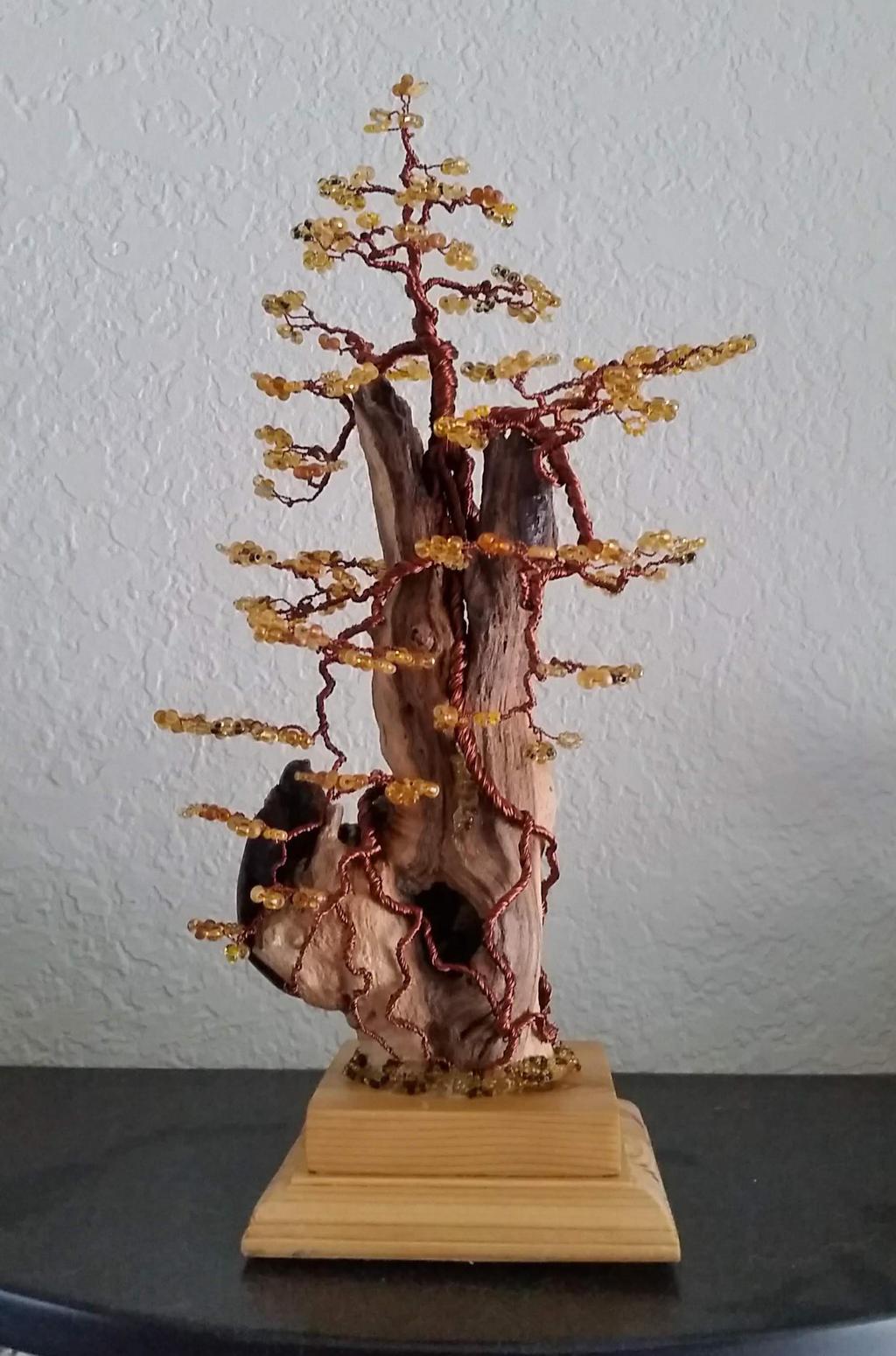 Driftwood Beaded Art