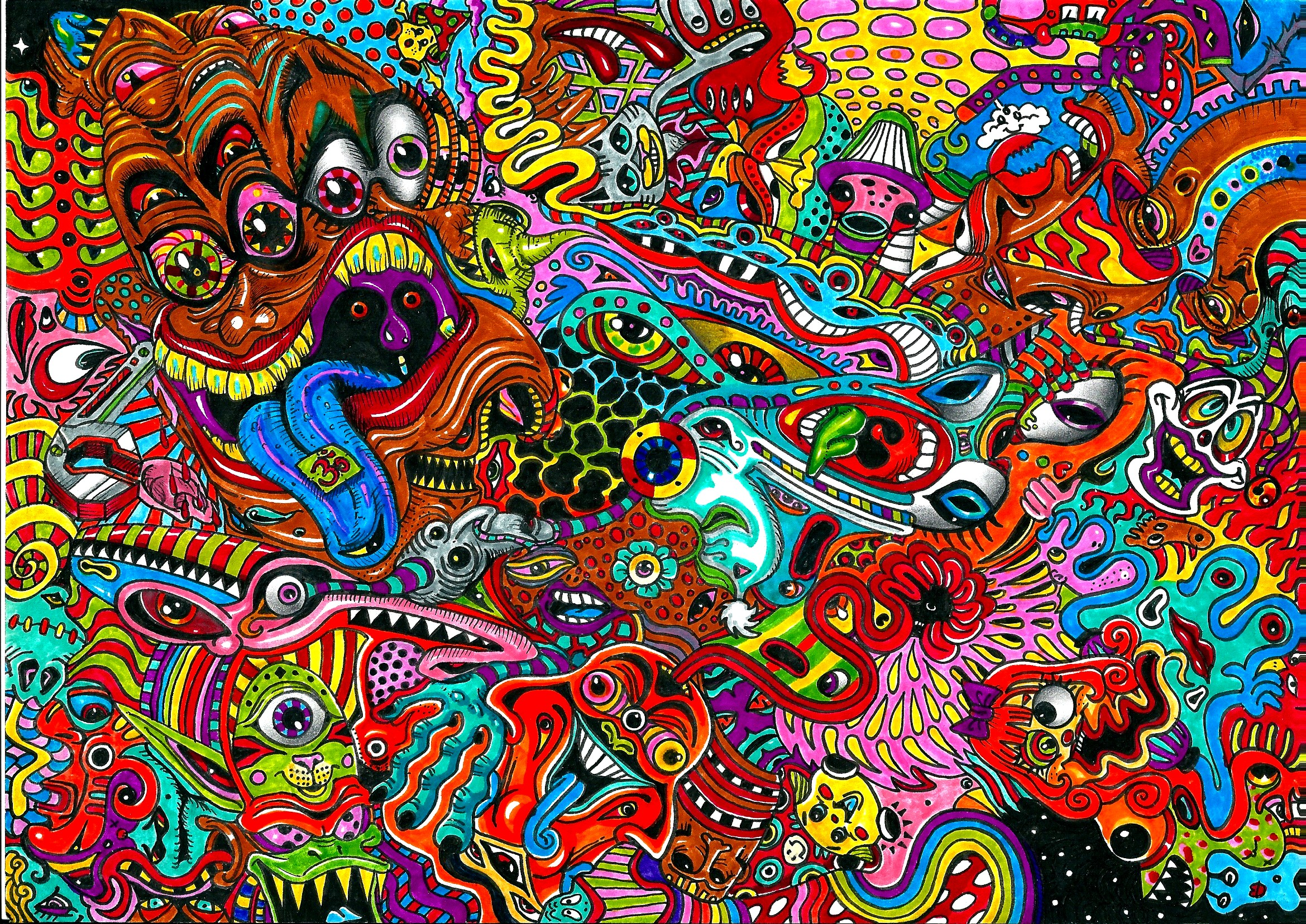Description color box 3d creative design theme desktop picture - Psychedelic Mess By Acid Flo On Deviantart