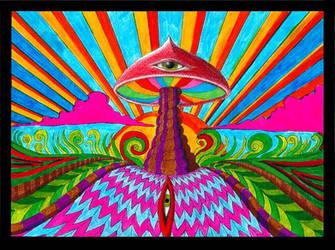 The Mushroom God by Acid-Flo