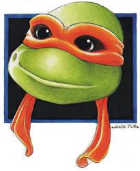 Michelangelo gently smiling