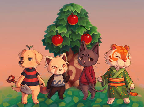 Animal Crossing Sunset