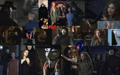 V and Evey Desktop Collage 3 by jennperry22