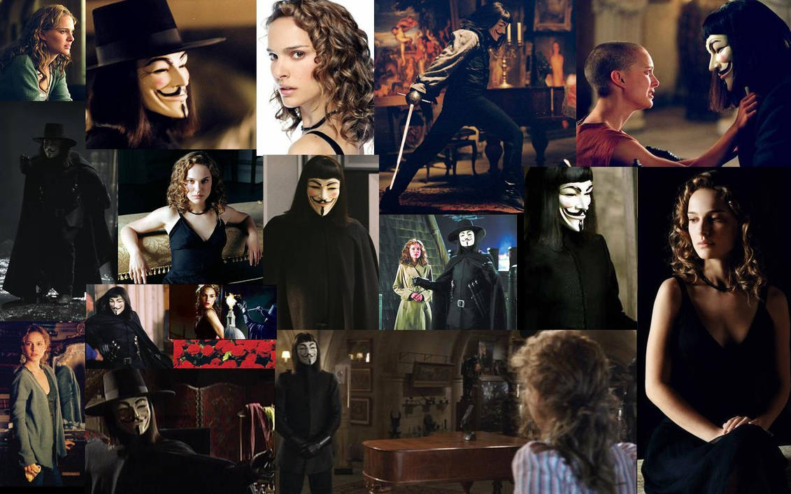 V and Evey Desktop Collage 4 by jennperry22