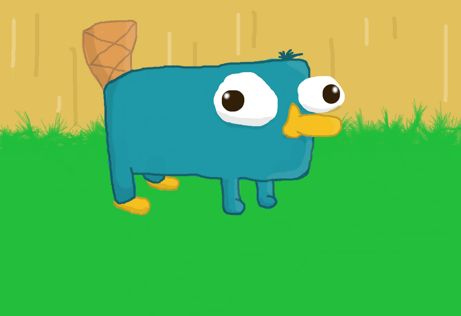 Perry the baby platypus by grandpapoo on deviantart