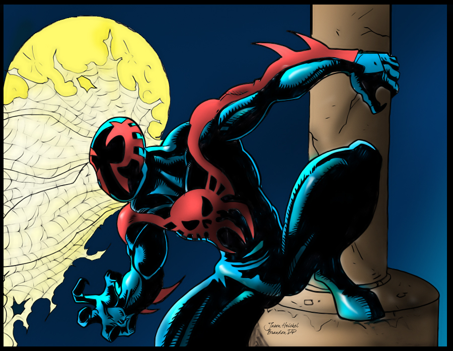 how to draw spider man 2099