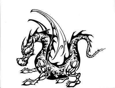 tribal dragon standin by HARDCORECRACK