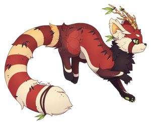 {P} Red Panda by Viidoll