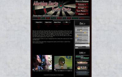 'Albridge Darts Stats' Website Design