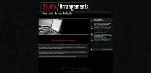 'Studio Arrangements' Website Design