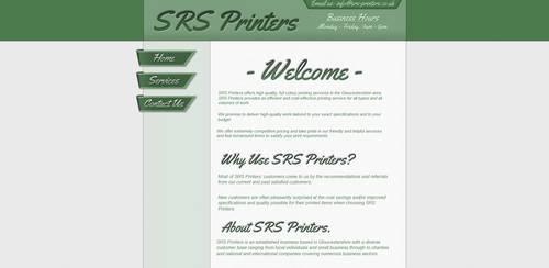 'SRS Printers' Website Design