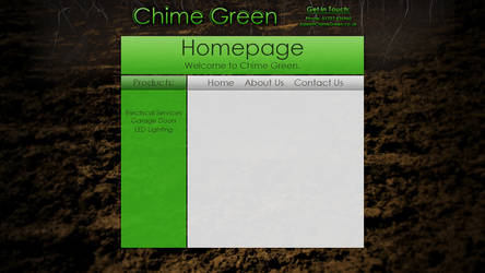'Chime Green' Website Design