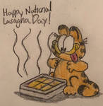 Garfield Loves His Lasagna