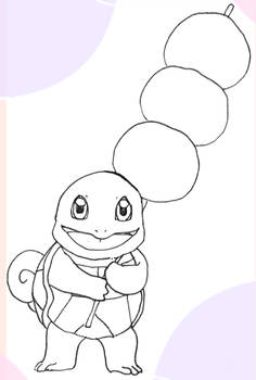 Squirtle with hanami dangos