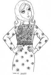 Hachi wearing Ulyana Sergeenko
