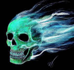 Spooky Ghost Skull...wooooo