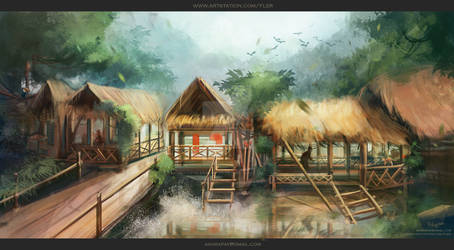 Environment sketches| In the jungle