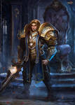 You shall be king. Anduin Wrynn by FlerPainter
