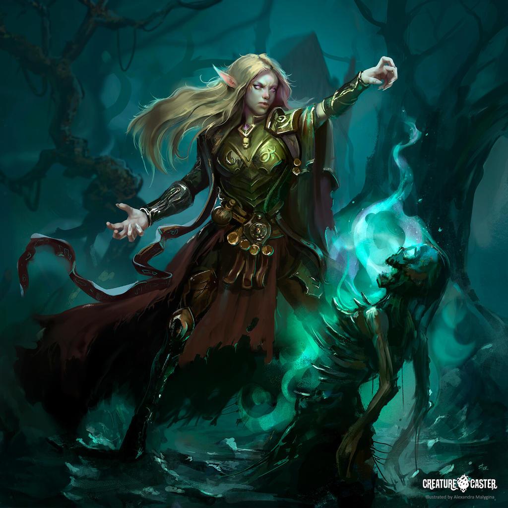 Saiyin. Elf Necromancer