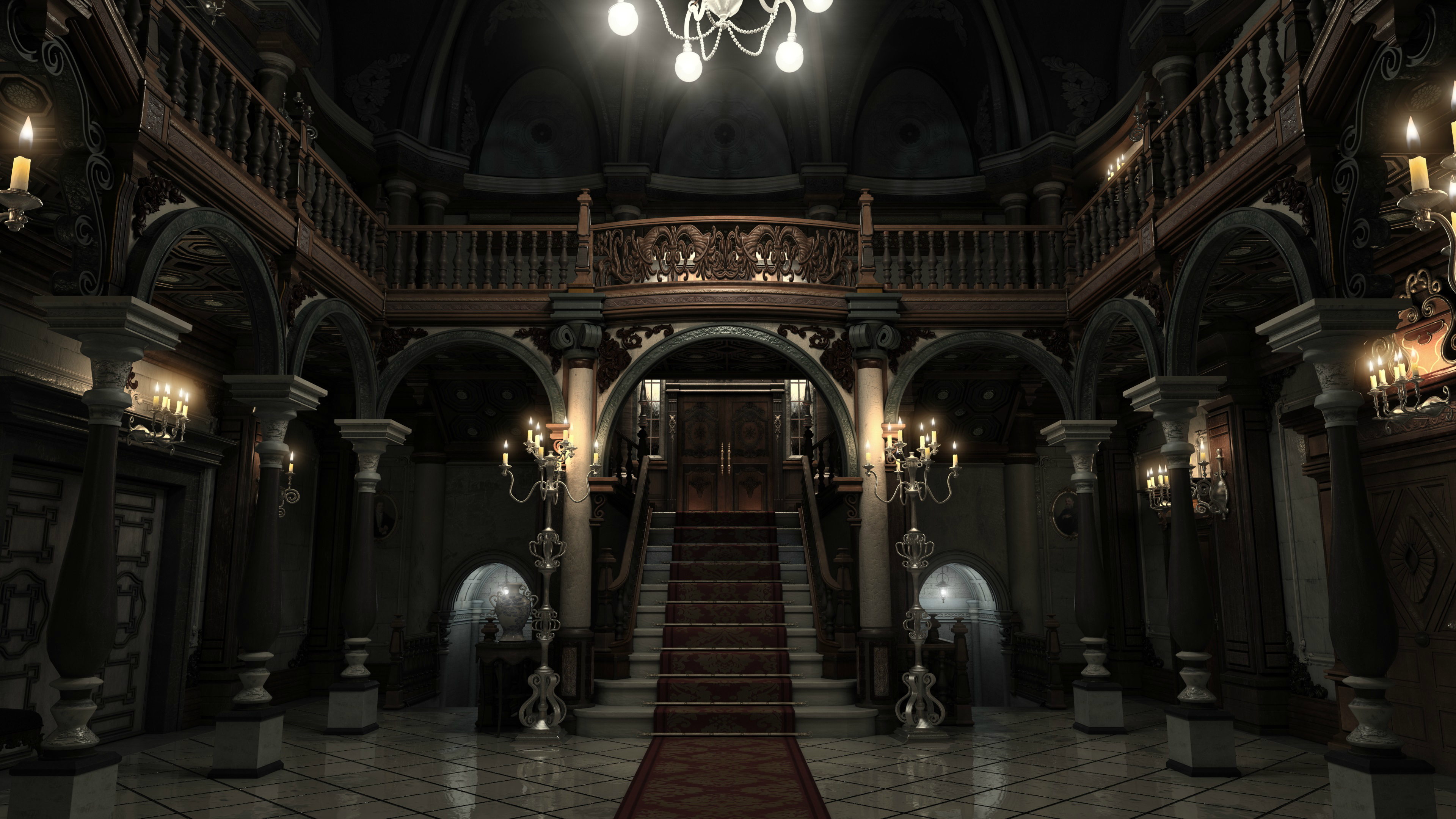 Abandoned Mansions For Sale Cheap Resident Evil Mansion 4k Render By Bowu On Deviantart