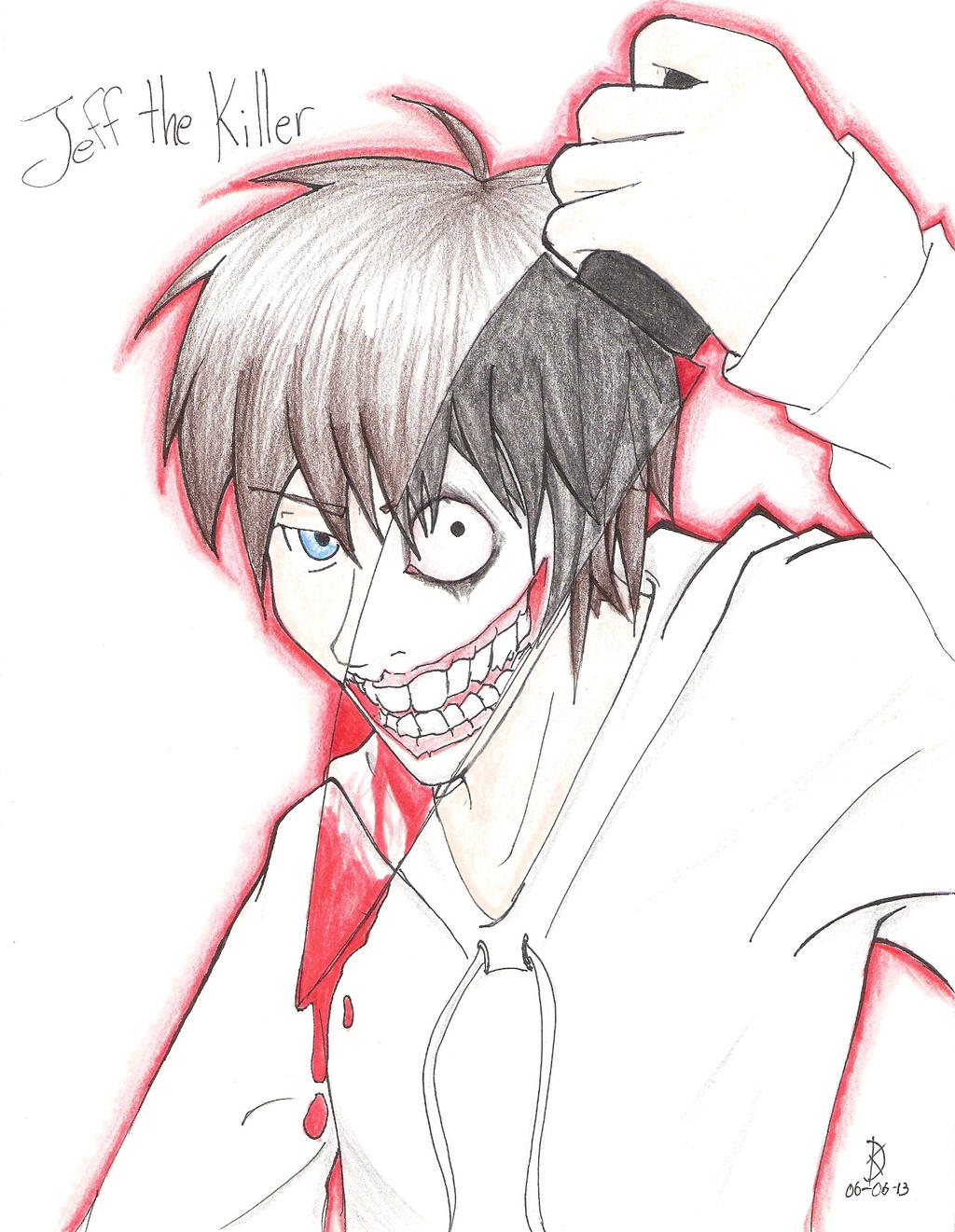 Jeff The Killer Anime Drawing The Killer Anime Drawing